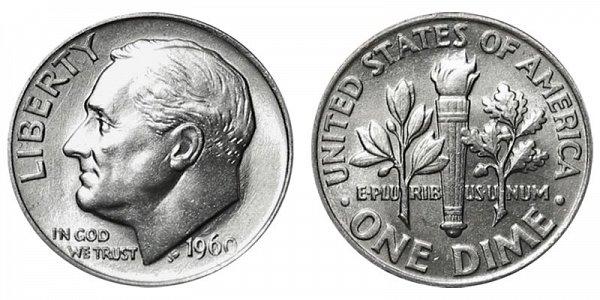 1960 Silver Roosevelt Dime