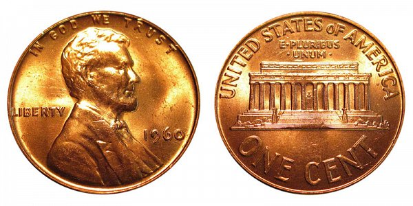 1960 Small Date Lincoln Memorial Cent Penny