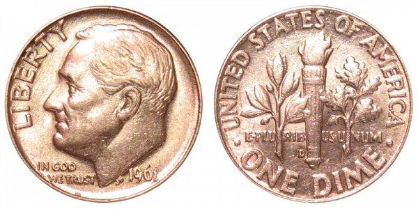 1961 D Silver Roosevelt Dime
