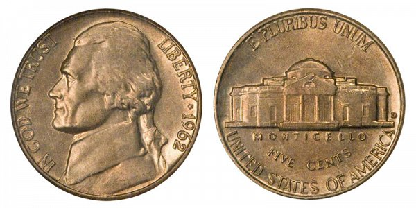 1962 D Jefferson Nickel