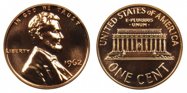 1962 Lincoln Memorial Cent Penny
