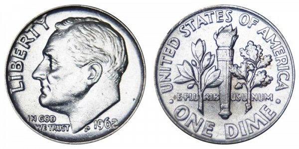 1962 Silver Roosevelt Dime