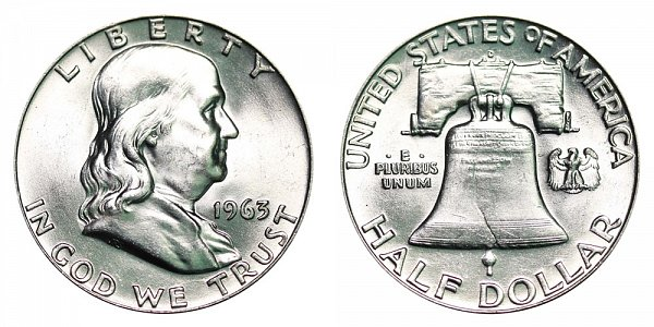 1963 D Franklin Silver Half Dollar