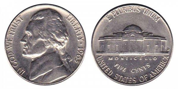 1963 D Jefferson Nickel