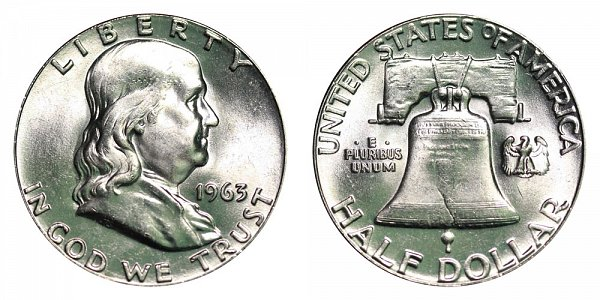 1963 Franklin Silver Half Dollar