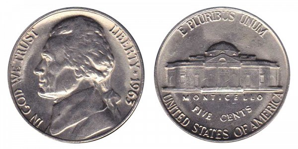 1963 Jefferson Nickel