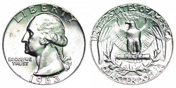 1963 Washington Silver Quarter