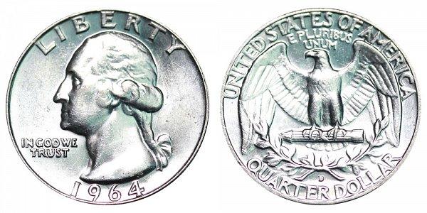 1964 D Washington Silver Quarter