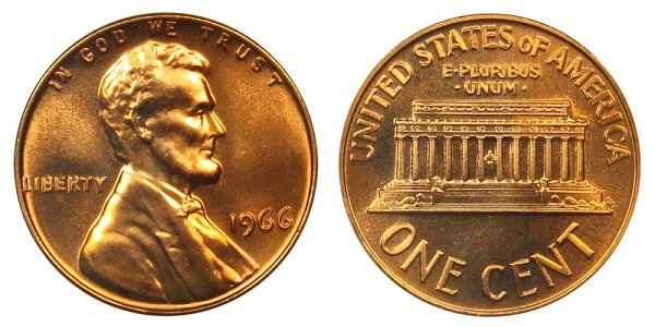 1966 Lincoln Memorial Cent Penny
