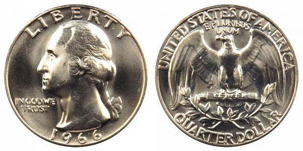 1966 Washington Quarter