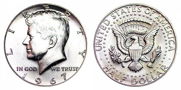 1967 Silver Kennedy Half Dollar