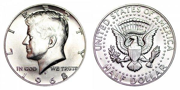 1968 D Silver Kennedy Half Dollar