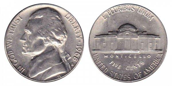 1968 S Jefferson Nickel