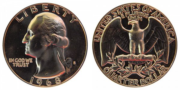 1968 S Washington Quarter Proof
