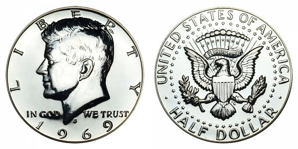 1969 S Silver Kennedy Half Dollar Proof
