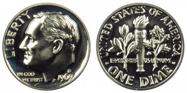 1969 S Roosevelt Dime Proof