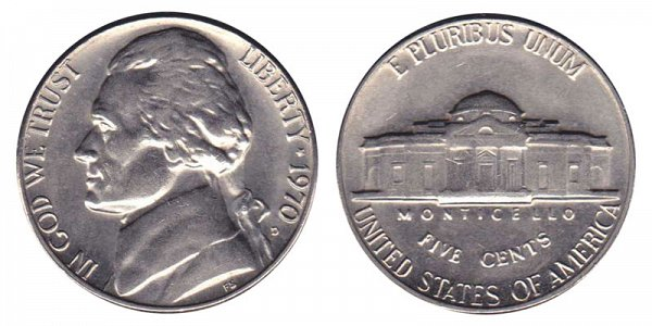 1970 D Jefferson Nickel