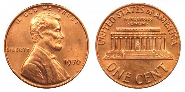 1970 Lincoln Memorial Cent Penny