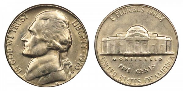 1970 S Jefferson Nickel