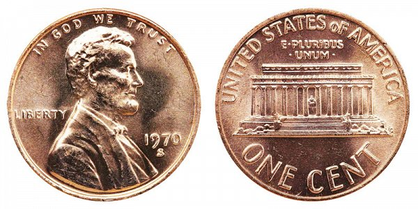 1970 S Large Date Lincoln Memorial Cent Penny
