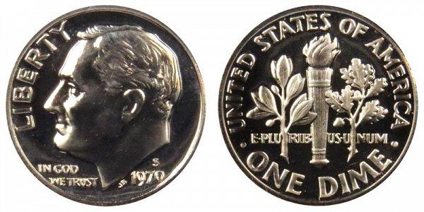 1970 S Roosevelt Dime Proof