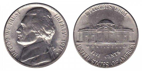 1971 D Jefferson Nickel