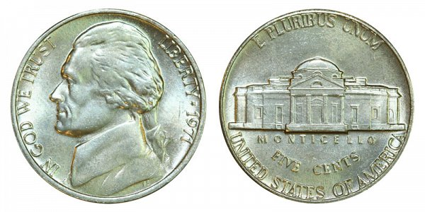 1971 Jefferson Nickel