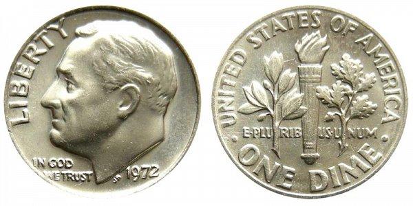 1972 Roosevelt Dime