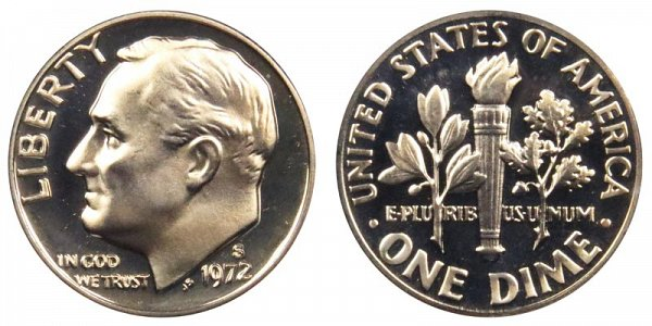 1972 S Roosevelt Dime Proof