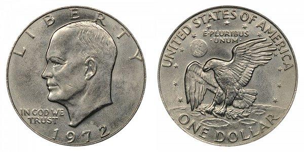 1972 Type 2 Eisenhower Ike Dollar