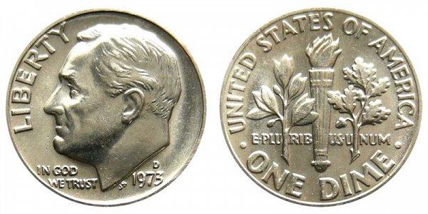 1973 D Roosevelt Dime