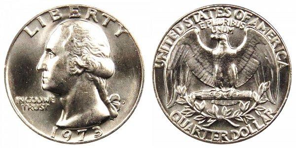 1973 D Washington Quarter