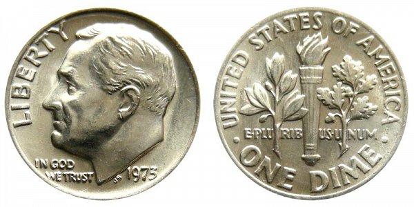 1973 Roosevelt Dime