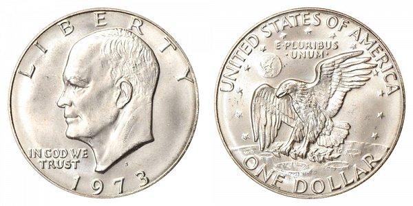 1973 S Copper-Clad Eisenhower Dollar - Brilliant Uncirculated