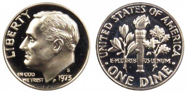 1973 S Roosevelt Dime Proof