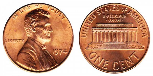 1974 Lincoln Memorial Cent Penny