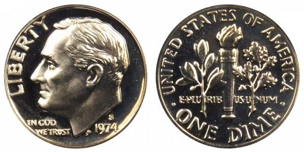 1974 S Roosevelt Dime Proof