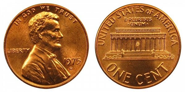 1975 D Lincoln Memorial Cent Penny