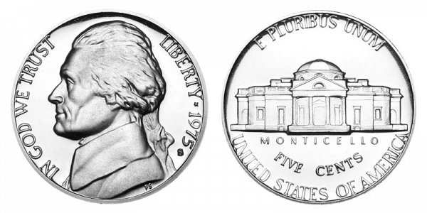 1975 S Jefferson Nickel Proof