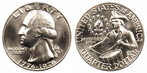 1776-1976 D Bicentennial Washington Quarter