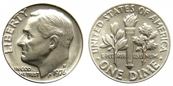 1976 D Roosevelt Dime