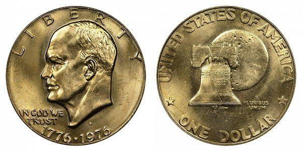 1976 D Type 1 Bicentennial Eisenhower Ike Dollar