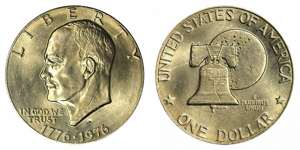 1976 D Type 2 Bicentennial Eisenhower Ike Dollar Proof