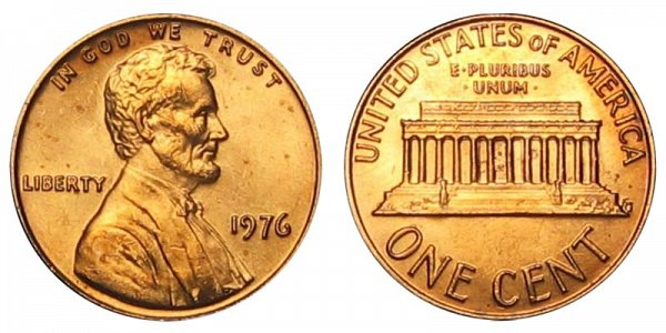1976 Lincoln Memorial Cent Penny