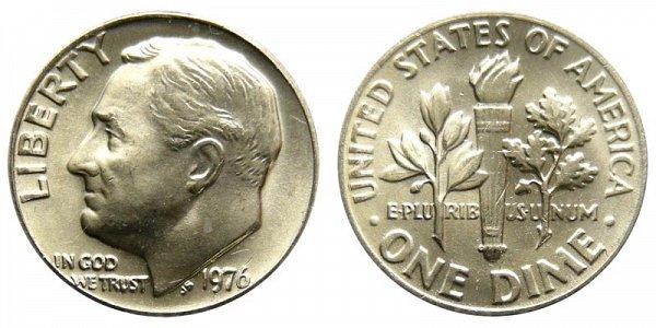1976 Roosevelt Dime