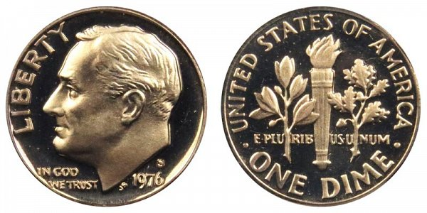 1976 S Roosevelt Dime Proof