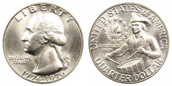 1776-1976 S Bicentennial Washington Quarter - 40% Silver Uncirculated Edition