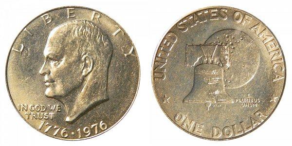 1976 Type 1 Bicentennial Eisenhower Ike Dollar