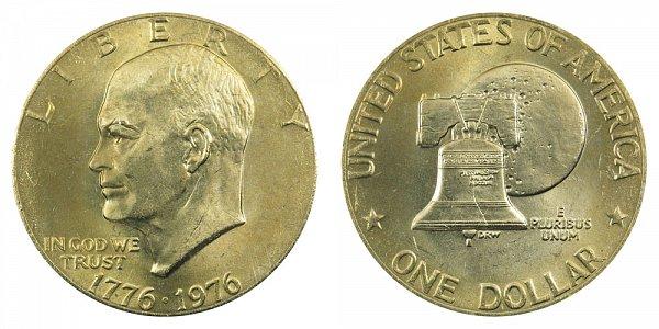 1976 Type 2 Bicentennial Eisenhower Ike Dollar