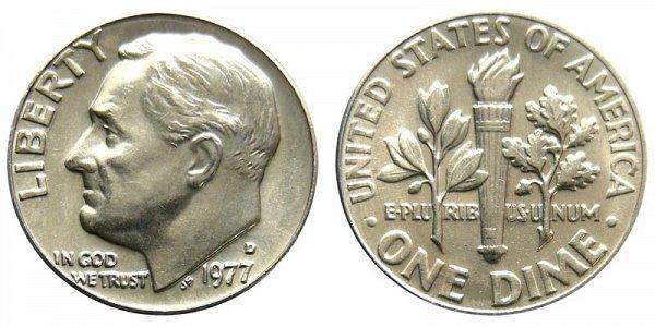 1977 D Roosevelt Dime